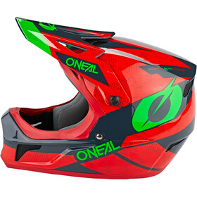 O'Neal Sonus Kask Deft, red/gray/green